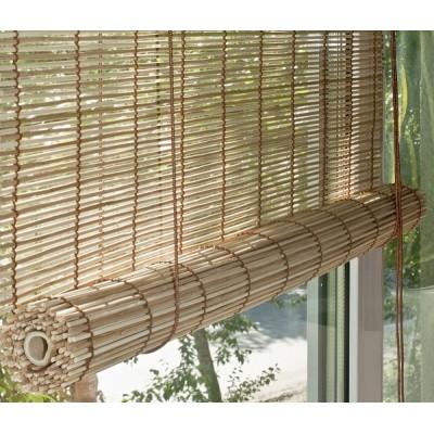 Бамбуковые рулонные шторы цвет mix