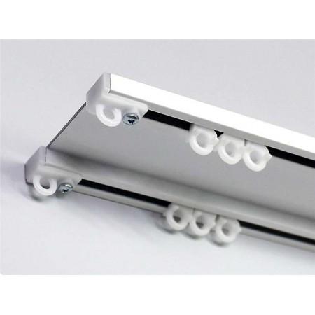 Шина потолочная алюминиевая на 2 ряда